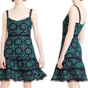 J. Crew Graphic Lace A-Line Dress